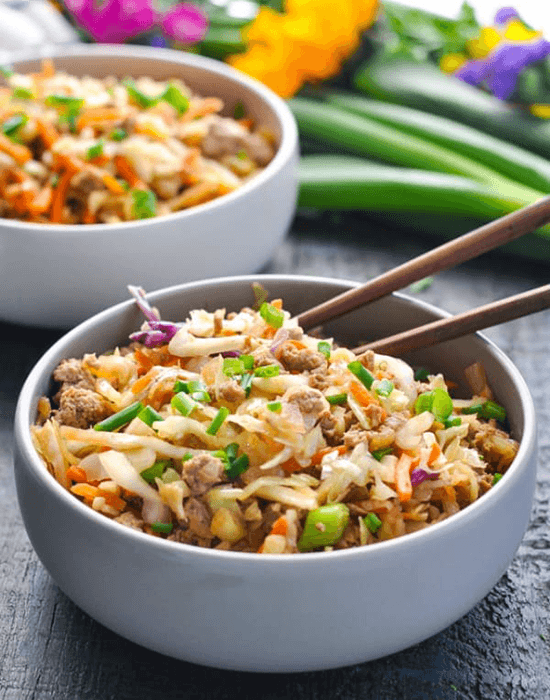 egg roll ground chicken recipes