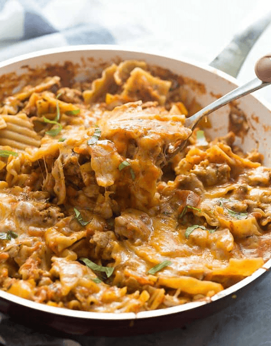 one pot ground chicken lasagna recipe