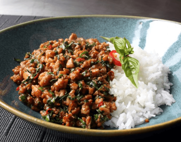 spicy thai basil ground chicken recipe